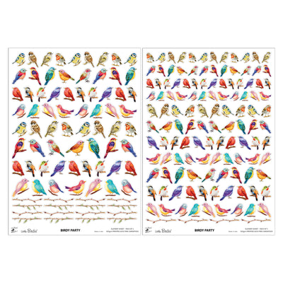 Element Sheet- Birdy Party, 250gsm, 2 Sheets