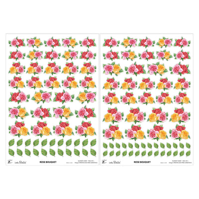 Element Sheet- Rose Bouquet, 250gsm, 2 Sheets