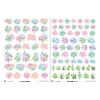 Element Sheet- Succulent Patch, 250gsm, 2 Sheets