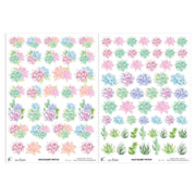 Little Birdie Element Sheet- Succulent Patch, 250gsm, 2 Sheets