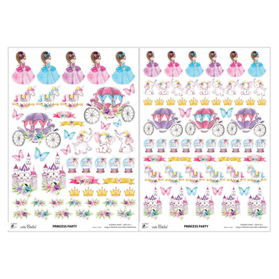 Element Sheet- Princess Party, 250gsm, 2 Sheets