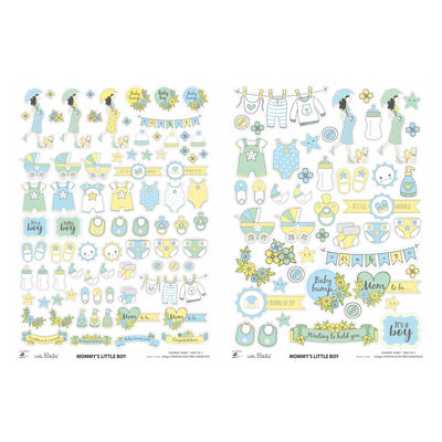 Element Sheet- Mommy's Little Boy, 250gsm, 2 Sheets