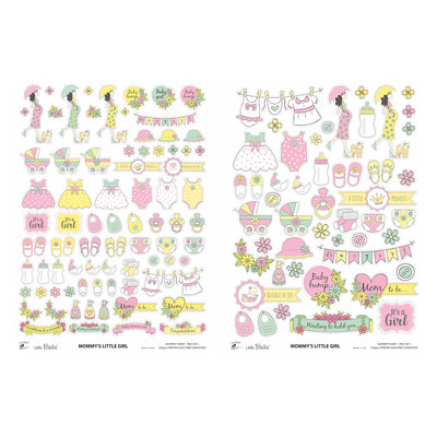 Element Sheet- mommy's Little Girl, 250gsm, 2 Sheets