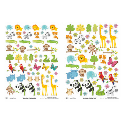Element Sheet- Animal Carnival, 250gsm, 2 Sheets