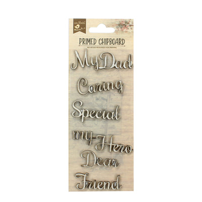 Primed Chipboard- Special Dad, 6pc
