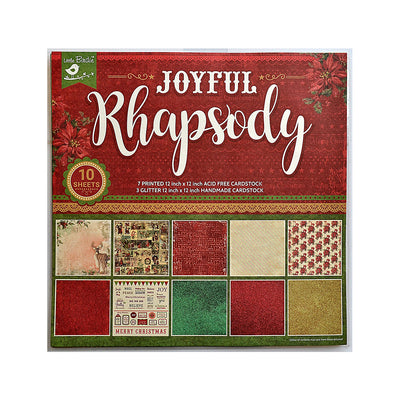 Little Birdie Cardstock Paper Pack- Joyful Rhapsody 12X12 inch, 10sheets