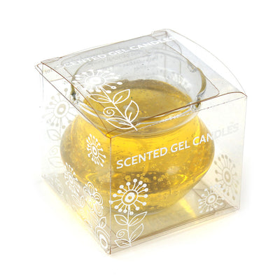 Scented Gel Candle -Yellow
