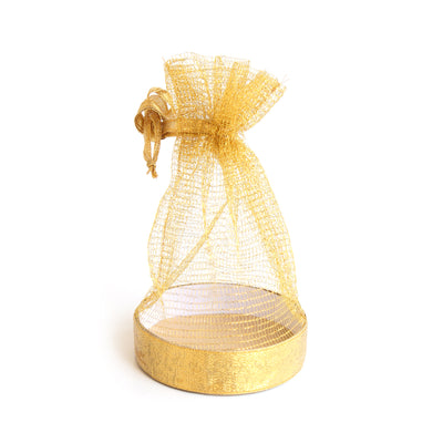 Organza Basket Bag- Gold Zari