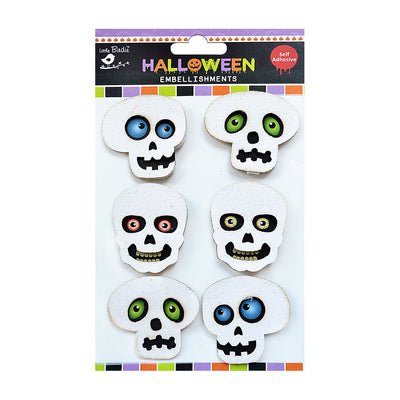 Halloween Popping Eye Skull- 6pc