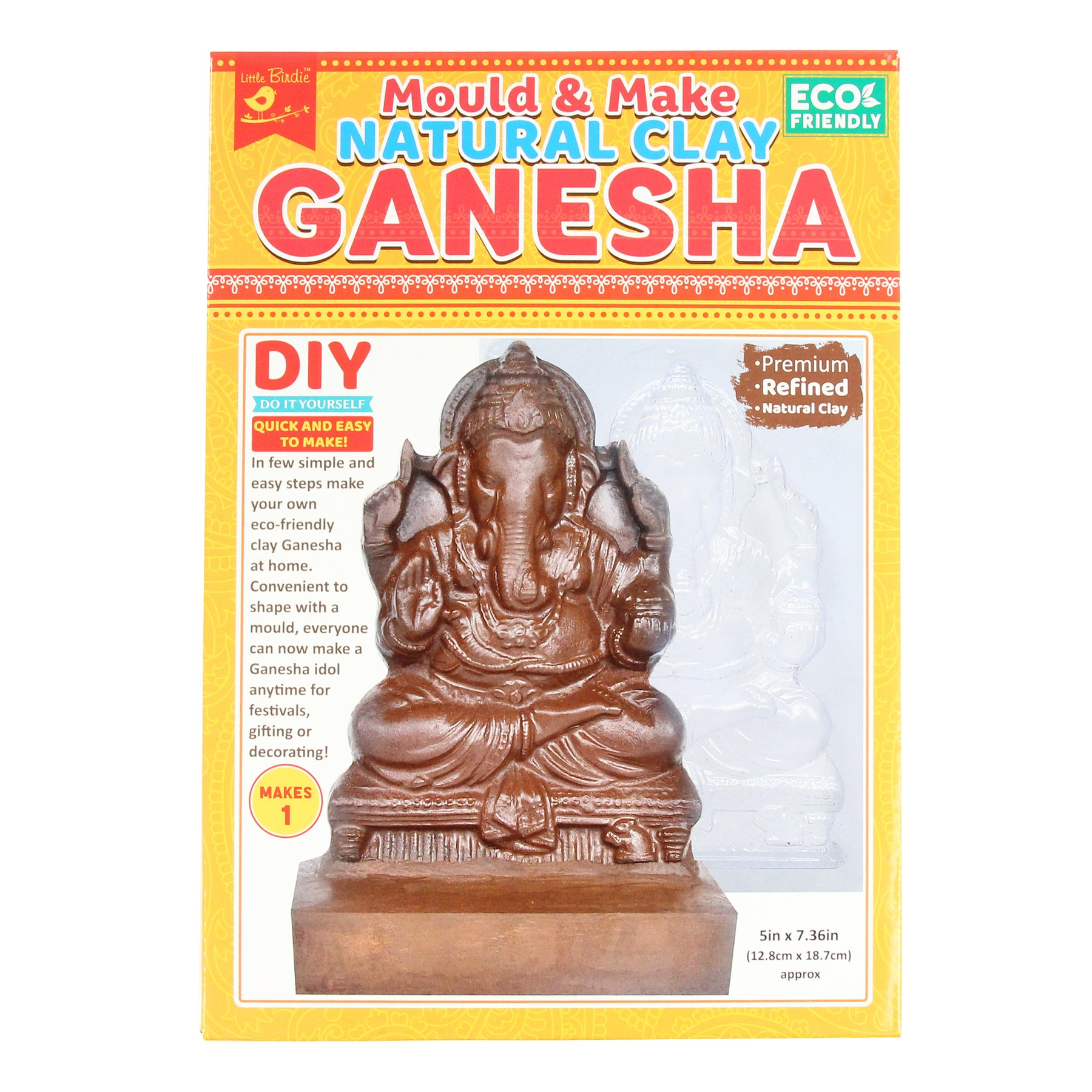 DIY Natural Clay Ganesha - Mould and Make – Itsy Bitsy