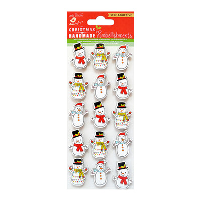 Little Birdie Christmas Embellishment - Snowman, 15pc