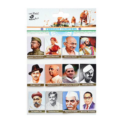 Self Adhesive Picture- Freedom Fighters of India, 12pc