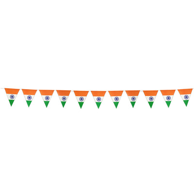Indian Flag Banner- 11pc, With 4mt Thread