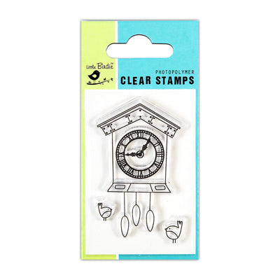 Clear Stamps -  Cuckoo Clock, 2x3inch, 3pcs
