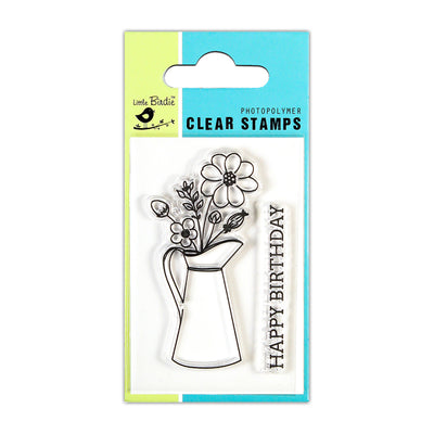 Clear Stamps -  Birthday Greetings, 2x3inch, 2pcs