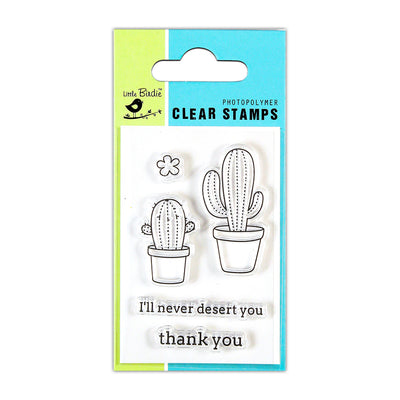 Clear Stamps -  Cacti Talk, 2x3inch, 5pcs