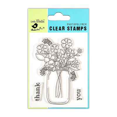 Clear Stamps -  Flowerful Gratitude, 3x4inch, 3pcs