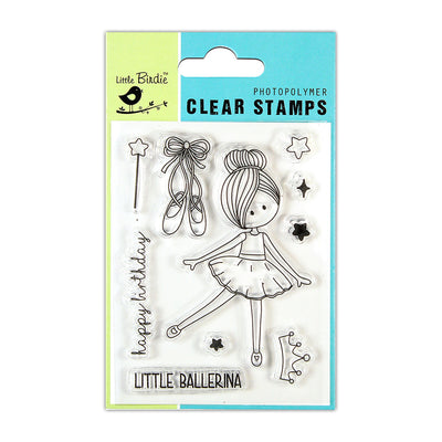 Clear Stamps -  Little Ballerina, 3x4inch, 10pcs
