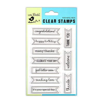 Clear Stamps -  Greeting Bulletin, 4.5x6.5inch, 10pcs
