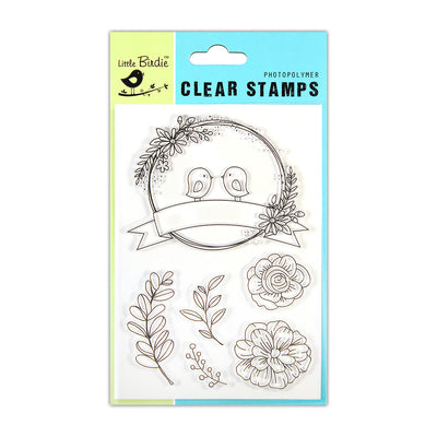 Clear Stamps -  Chirpy Garden, 4.5x6.5inch, 6pcs