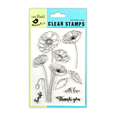 Clear Stamps -  Poppy Wishes, 4.5x6.5inch, 7pcs