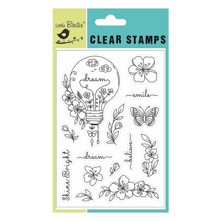 "Clear Stamps - Shine Bright, 4.5"" X 6.5"", 14Pc"