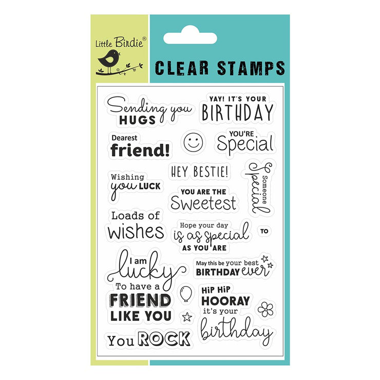 "Clear Stamps - Loads Of Wishes, 4.5"" X 6.5"", 19Pc"
