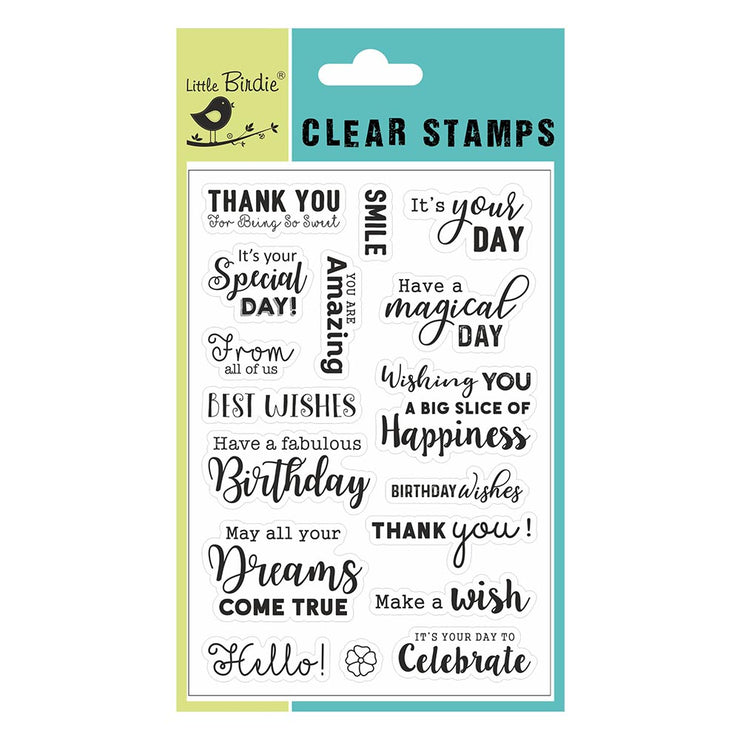 "Clear Stamps - Make A Wish, 4.5"" X 6.5"", 17Pc"