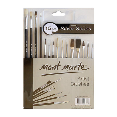 Mont Marte Silver Series Artist Brush Set - 15pc