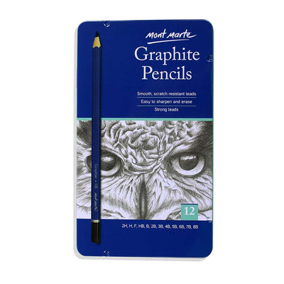 Mont Marte Graphite Pencils -12pcs