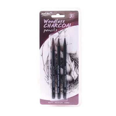 Mont Marte Woodless Charcoal Pencils 3pcs