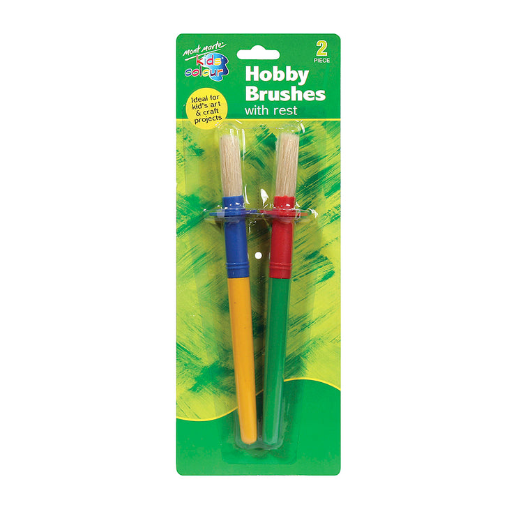 Mont Marte Kids Colour Hobby Brushes with Rest - 2pc
