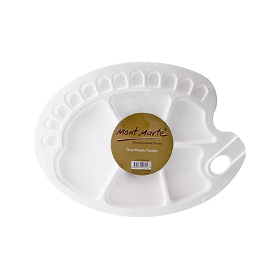 Mont Marte Plastic Palette - Oval, Heavy Duty, 1pc