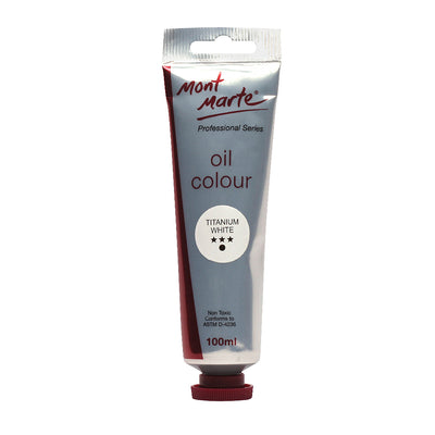 Mont Marte Oil Paint 100ml - Titanium White