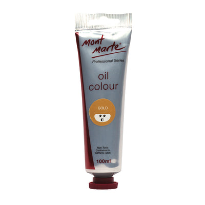 Mont Marte Oil Paint 100ml - Gold