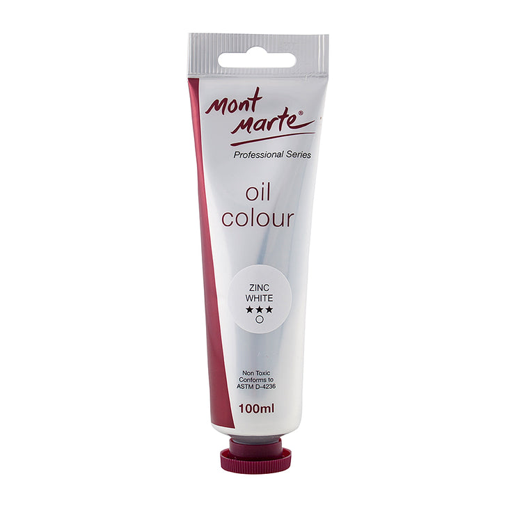 Mont Marte Oil Paint 100ml - Zinc White
