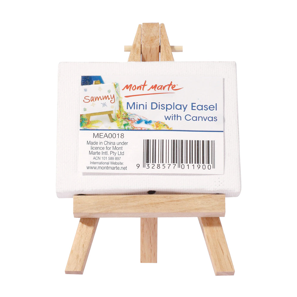 Mont Marte Mini Display Easel With Canvas -6x8cm, 1pc