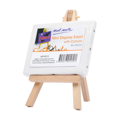 Mont Marte Mini Display Easel With Canvas -8x10cm, 1pc