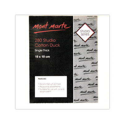 Mont Marte Studio Canvas -280 Cotton Duck,10X10cm, 1pc