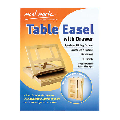 Mont Marte Table Easel With Drawer - 1pc