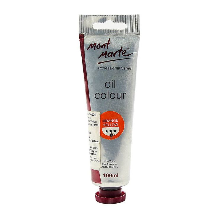 Mont Marte Oil Paint 100ml- Orange Yellow
