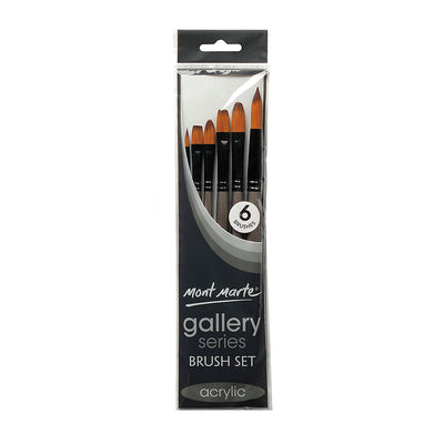 Mont Marte Gallery Series Brush Set Acrylic, 6Pcs