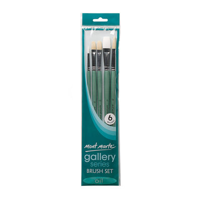 Mont Marte Gallery Series Brush Set Oil, 6Pcs
