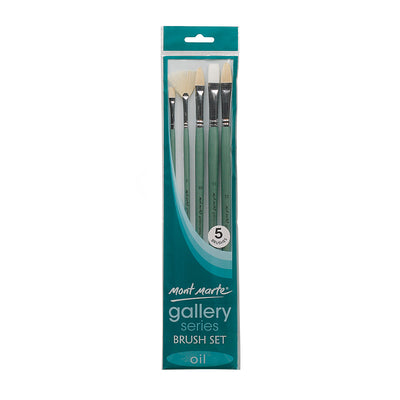 Mont Marte Gallery Series Brush Set Oil, 5Pcs