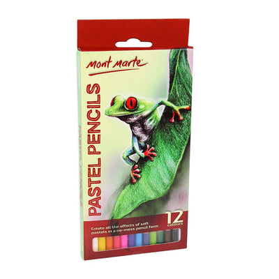 Mont Marte Pastel Pencils 12 Colours