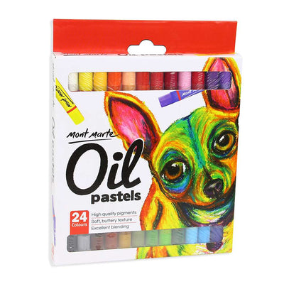 Mont Marte Oil Pastels - 24 shades, 1 pack