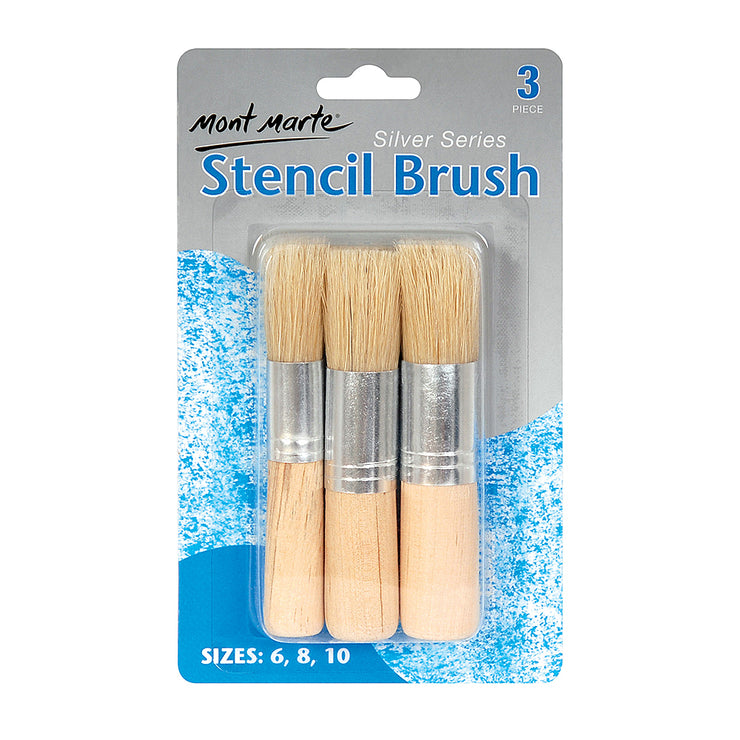 Mont Marte Silver Series Stencil Brush - 3pc