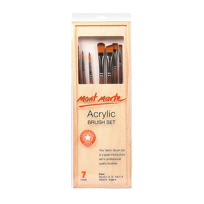 Mont Marte Acrylic Brush Set - 7pc