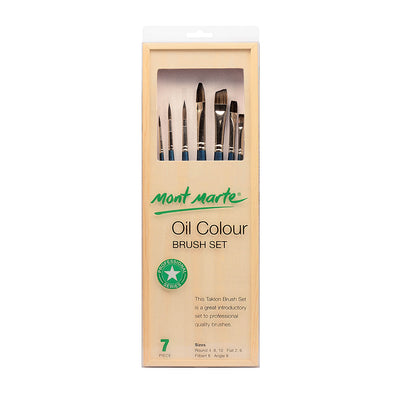 Mont Marte Oil Colour Brush Set - 7pc