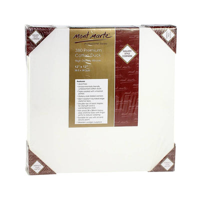 Mont Marte Canvas Panel - 380 Premium Cotton Duck, 30.5X30.5 cm, 1pc